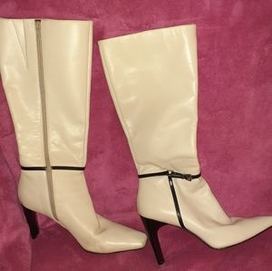 Nine West Boots Ivory Tricksy 8.5M